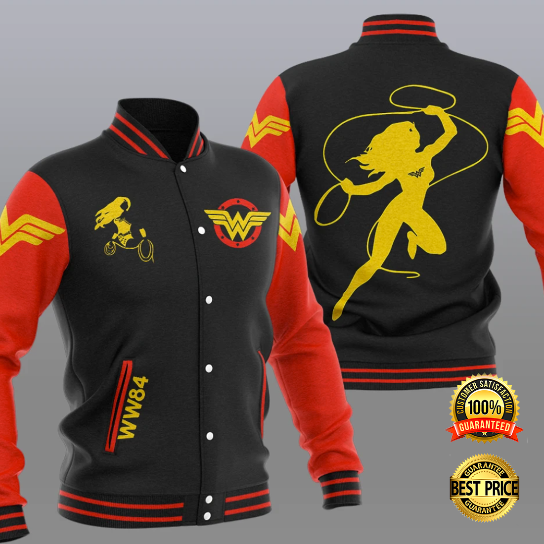 Wonder Woman baseball jacket 4