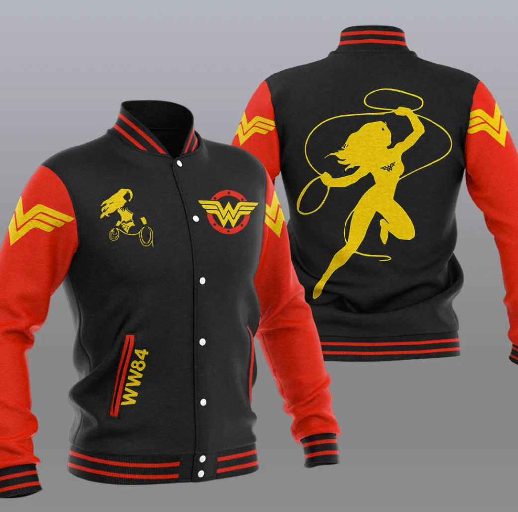 Wonder Woman baseball jacket