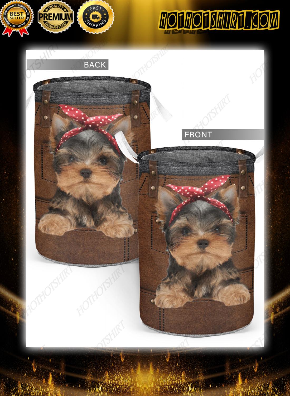 Yorkshire Terrier cute apron Laundry Baskets