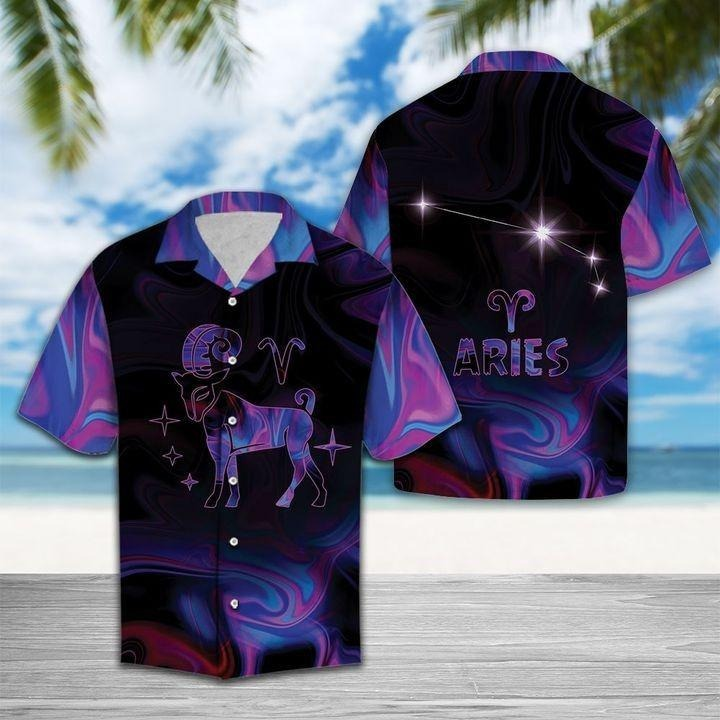 Zodiac Aries Horoscope Hawaiian Shirt