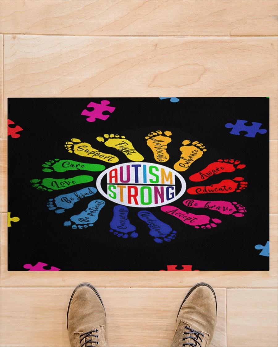 Autism strong footprint doormat Picture 1