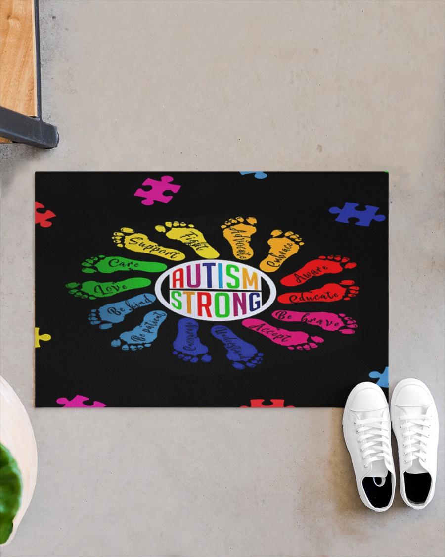 Autism strong footprint doormat Picture 2