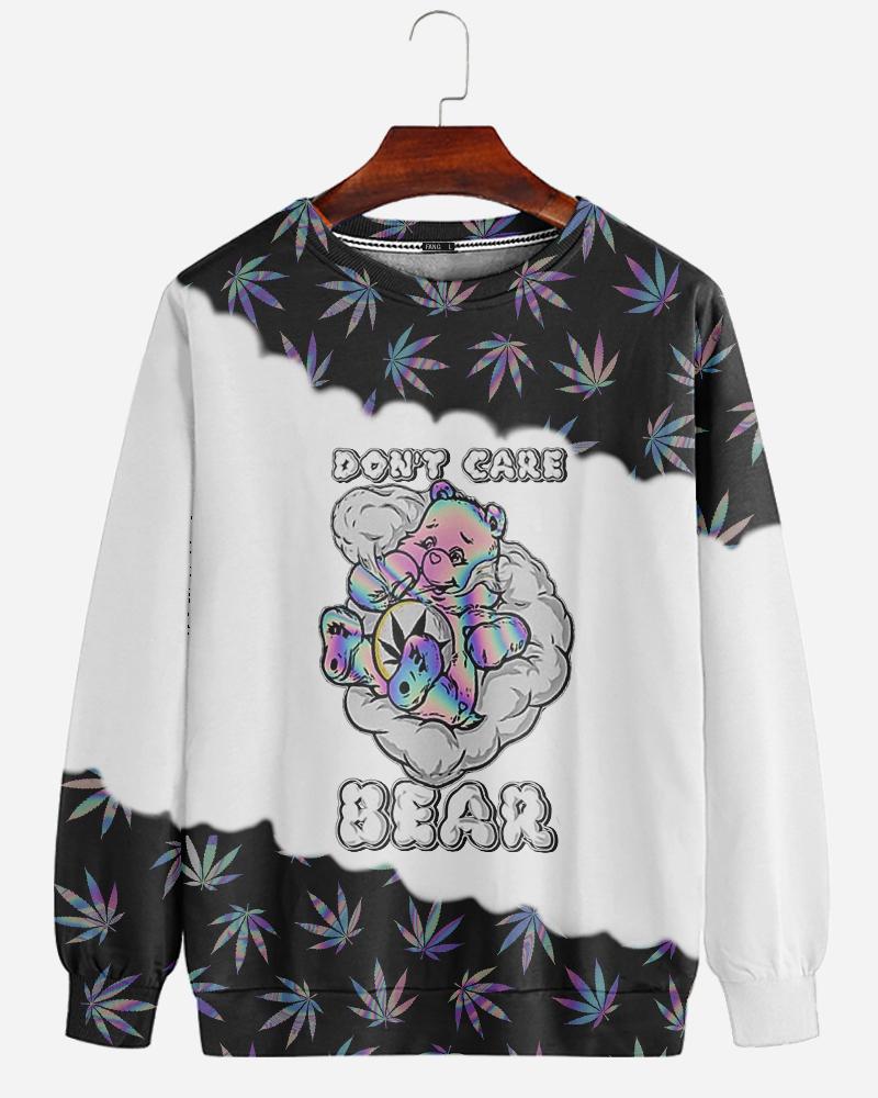 Dont care bear 3d sweatshirt
