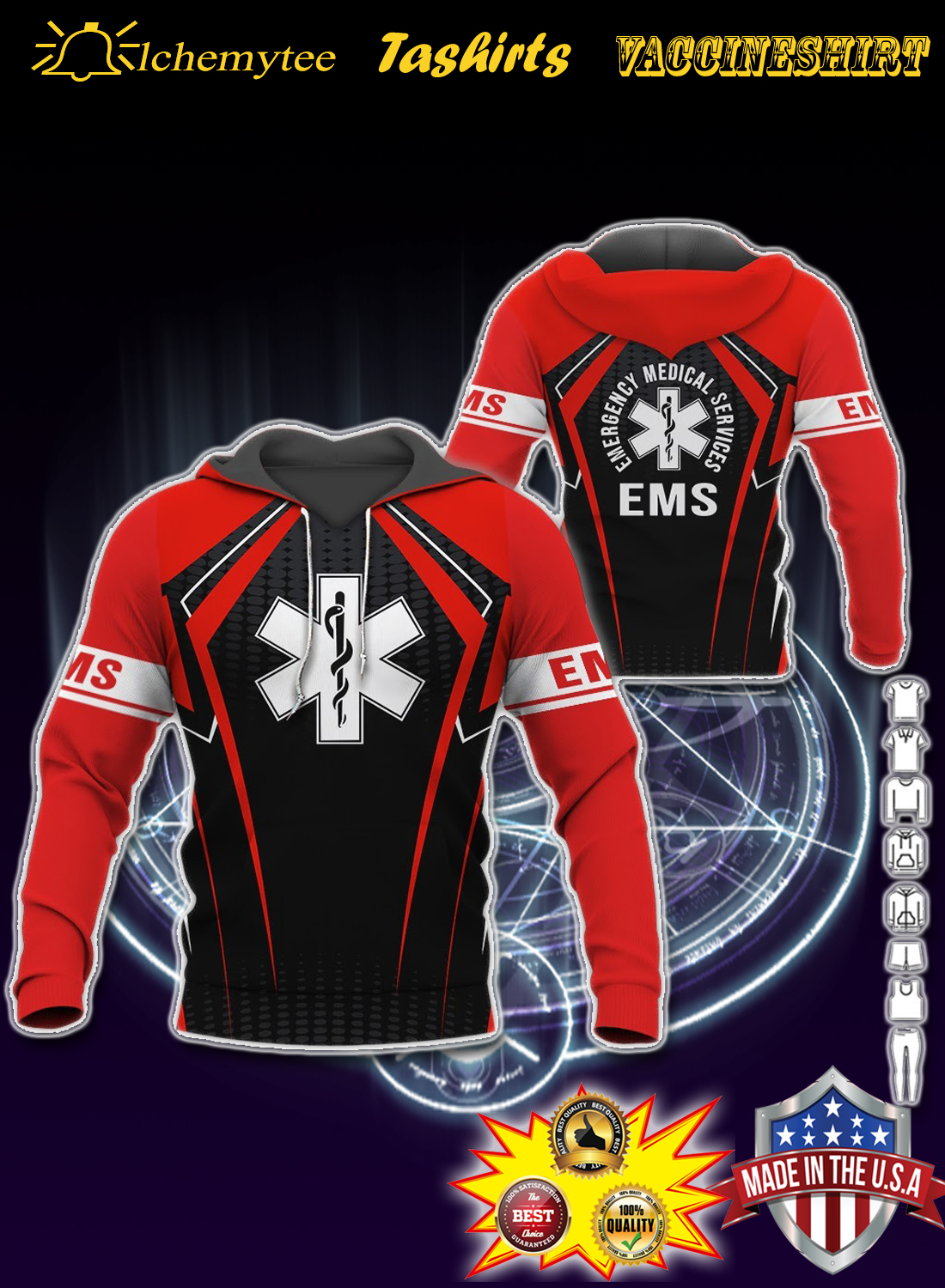 ESM emergency mediccal services 3d hoodie and shirt