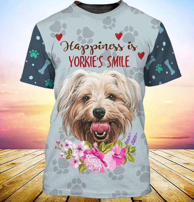 Happiness is yorkshires smile 3d full print hoodie 3