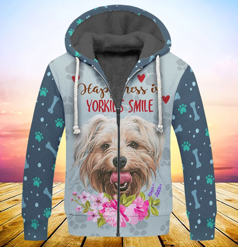 Happiness is yorkshires smile 3d full print hoodie 4