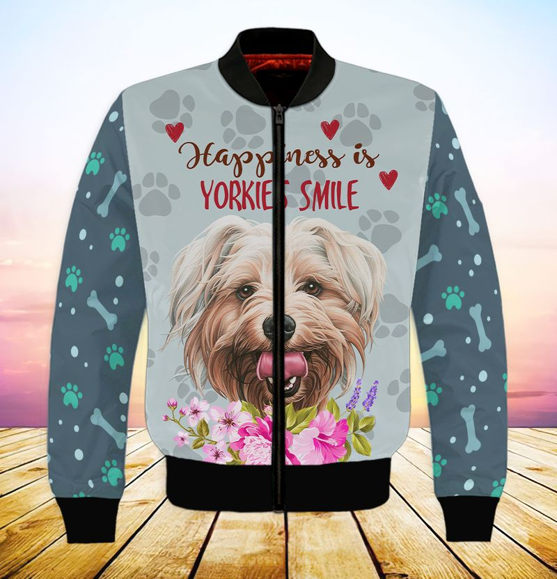Happiness is yorkshires smile 3d full print hoodie 5