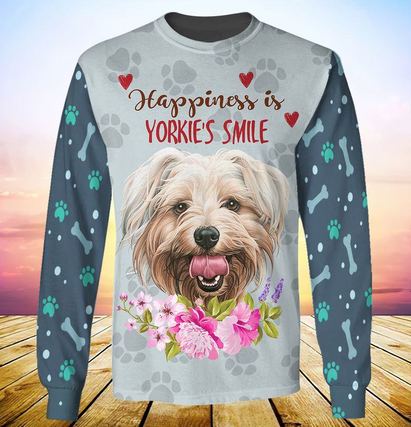 Happiness is yorkshires smile 3d full print hoodie 6