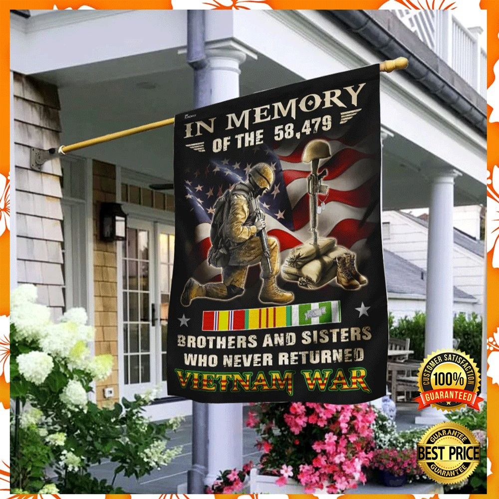 In memory of the 58479 brothers and sisters who never returned vietnam war flag1