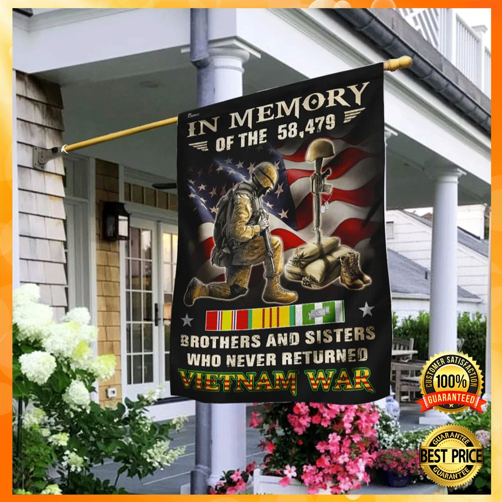 In memory of the 58479 brothers and sisters who never returned vietnam war flag2