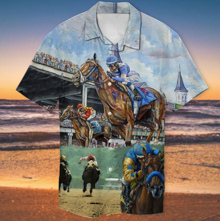 Kentucky Derby horse racing hawaiian shirt 1