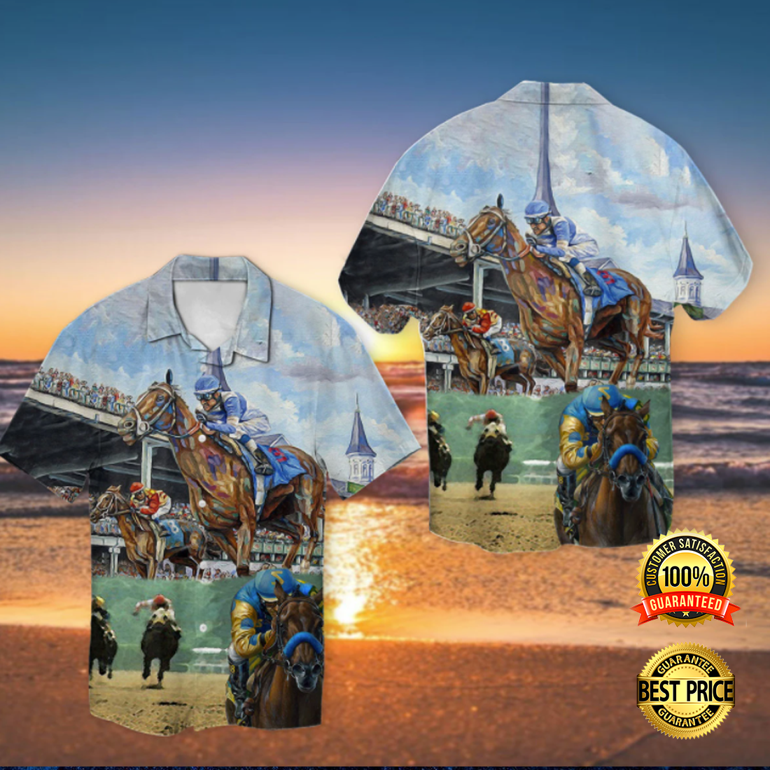 Kentucky Derby horse racing hawaiian shirt 4