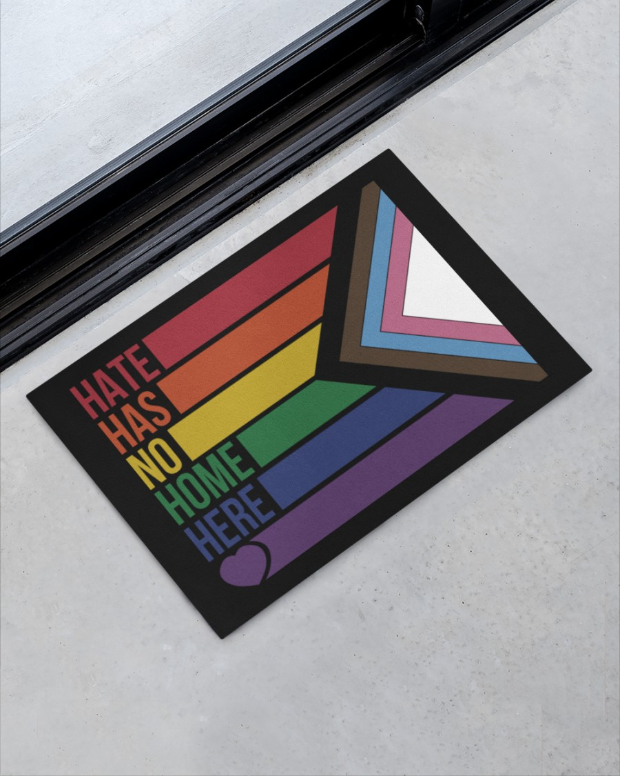 LGBT Hate has no home here doormat Picture 1