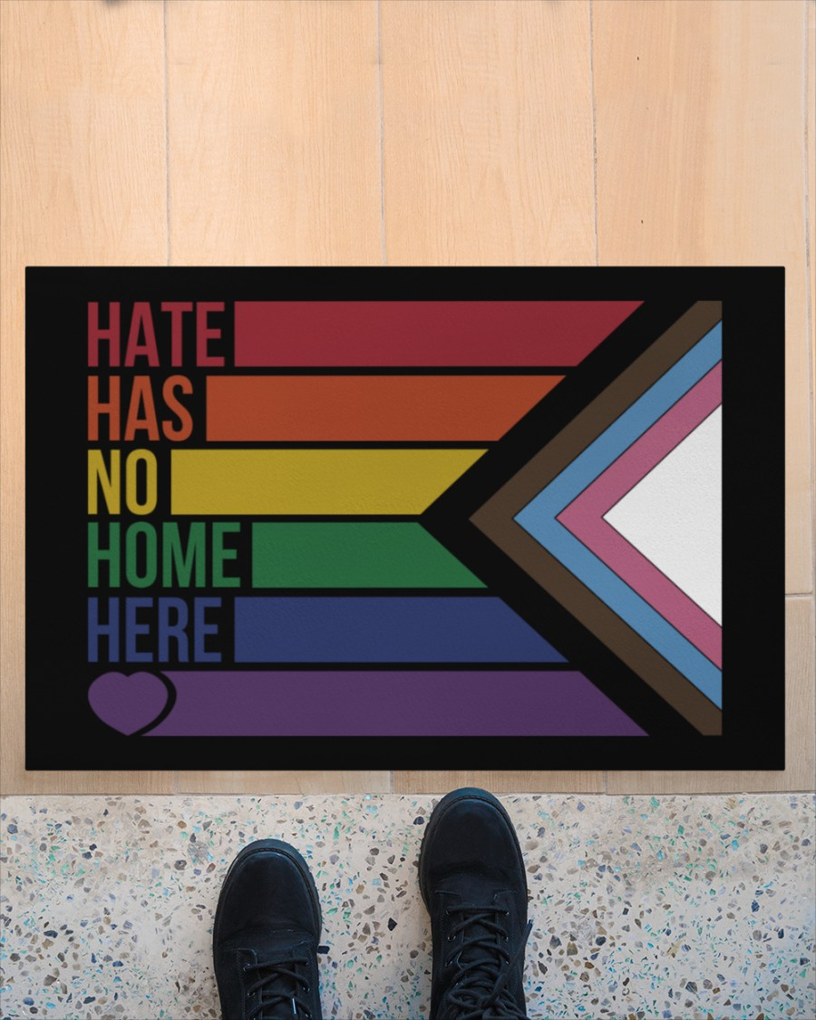 LGBT Hate has no home here doormat Picture 2