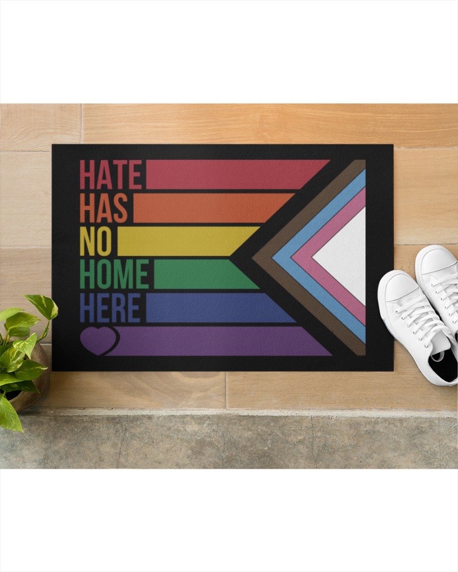LGBT Hate has no home here doormat Picture 3