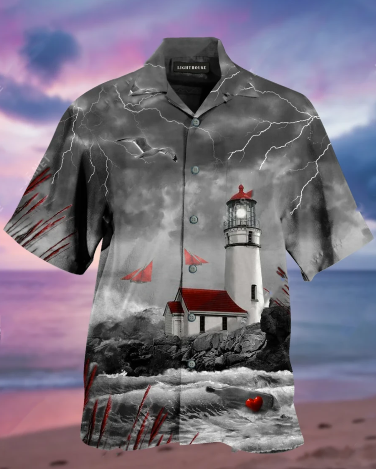 Lighthouse hawaiian shirt