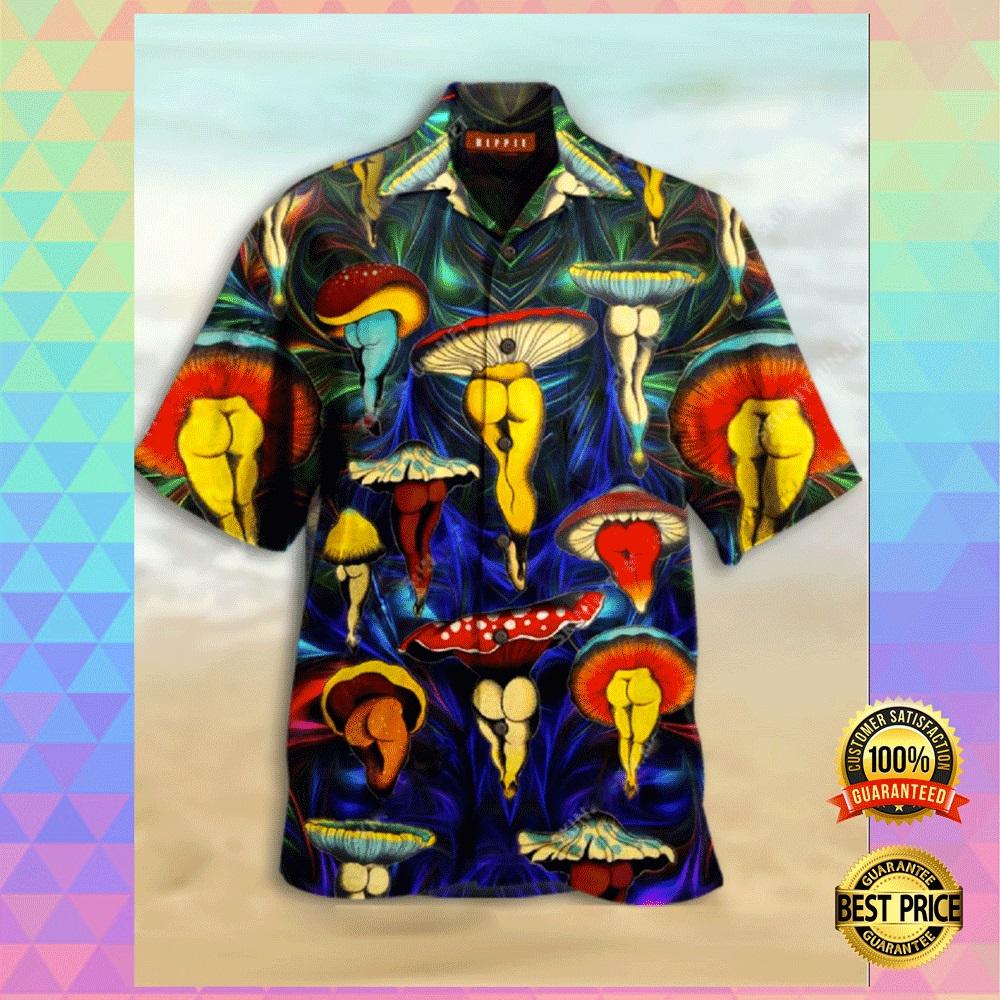 Mushroom butt hawaiian shirt2