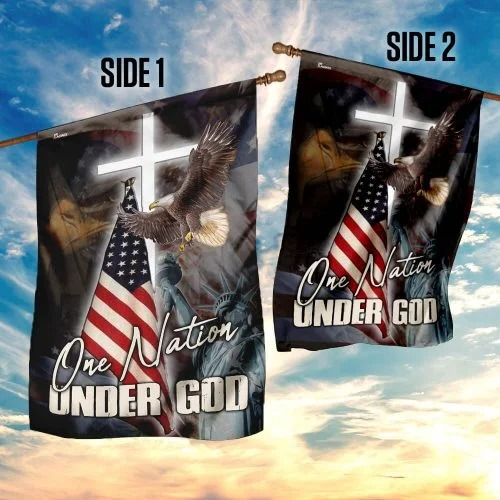 One nation under god America flag