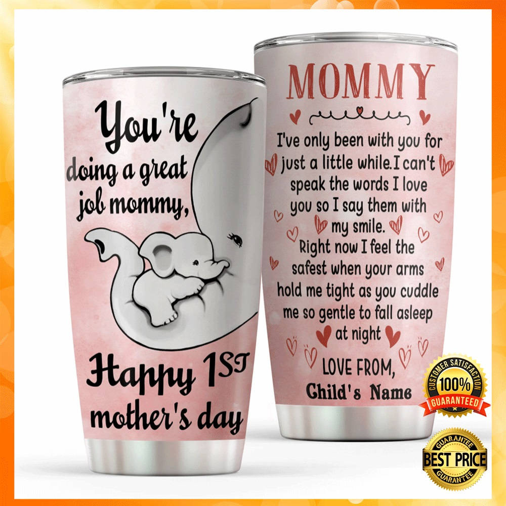Personalized elephant mommy youre doing a great job tumbler2