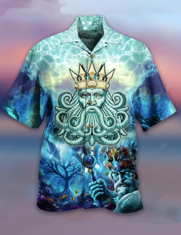Poseidon hawaiian shirt