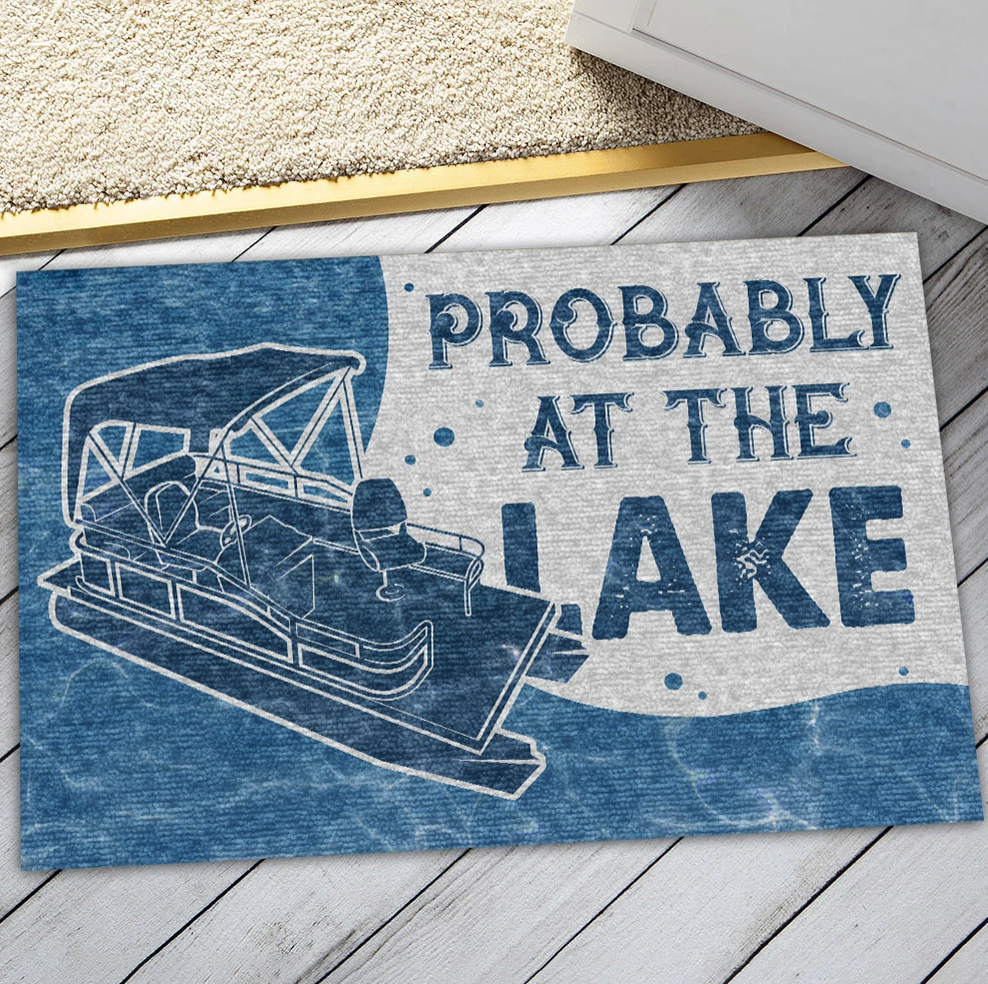 Probably at the lake doormat