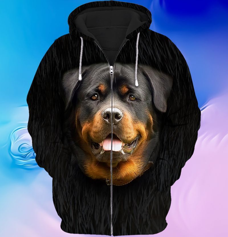 Rottweiler lover 3d full print hoodie and shirts 1