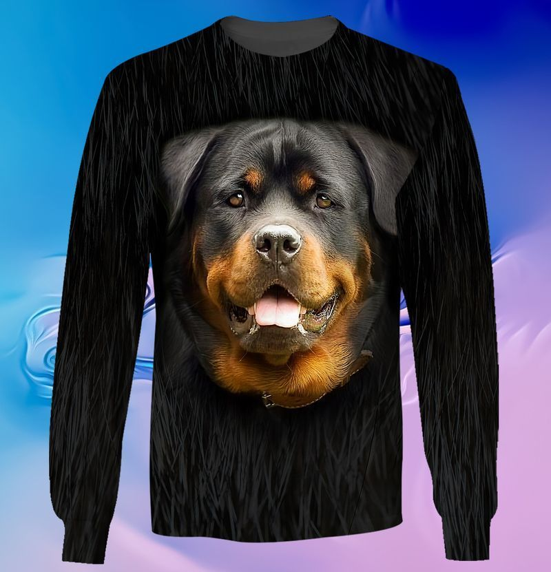 Rottweiler lover 3d full print hoodie and shirts 2