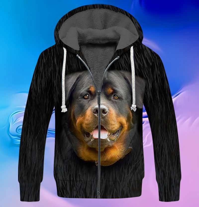 Rottweiler lover 3d full print hoodie and shirts 4