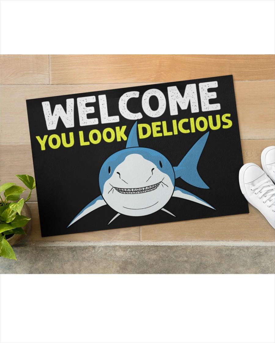 Shark welcome you look delicious doormat 2