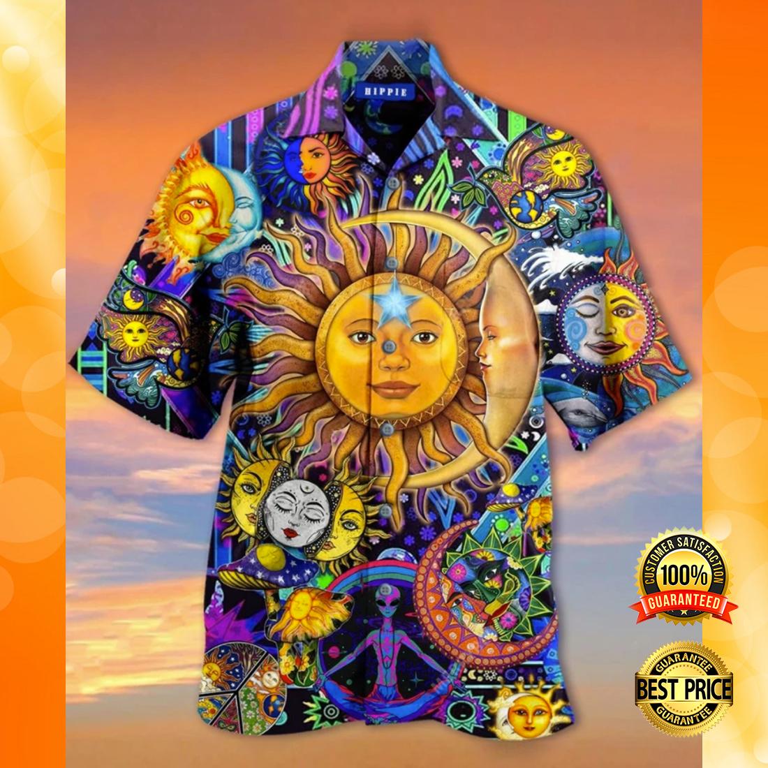 Sun and moon hippie hawaiian shirt 4
