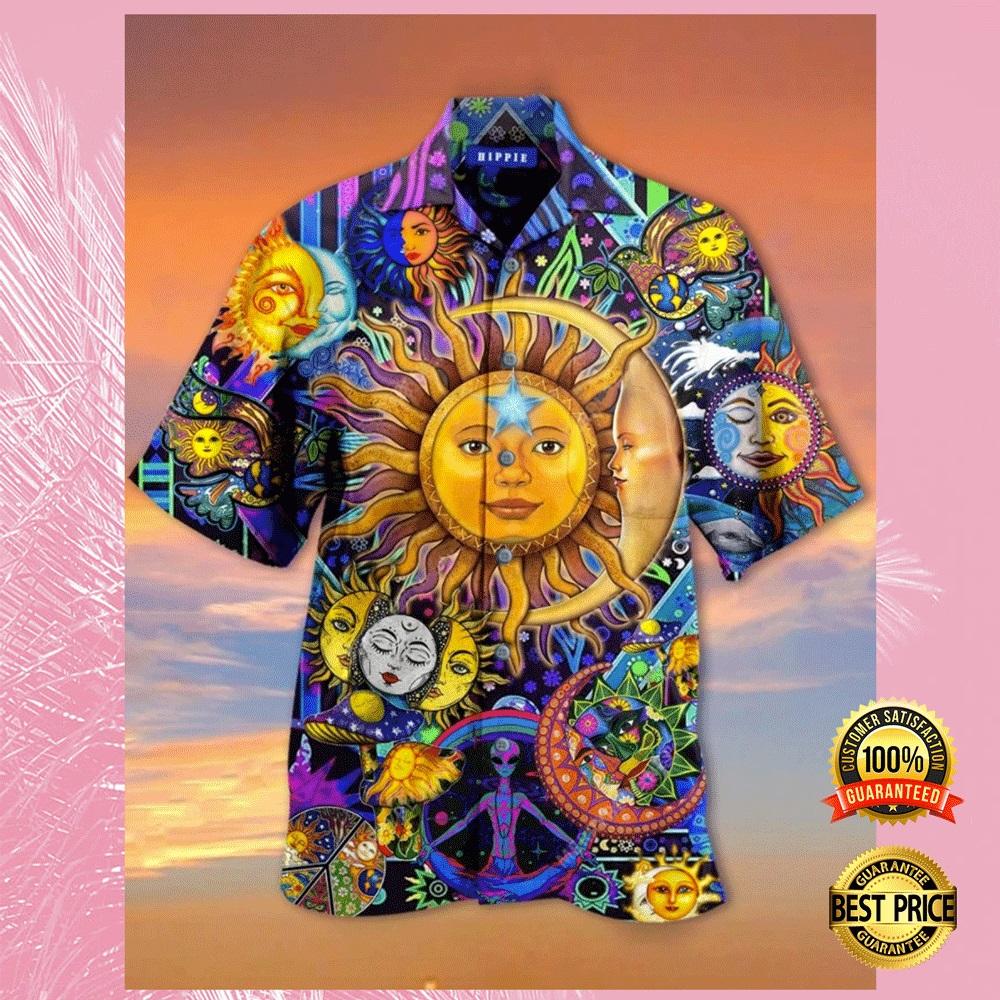 Sun and moon hippie hawaiian shirt1