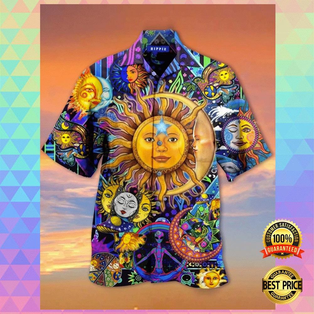 Sun and moon hippie hawaiian shirt2