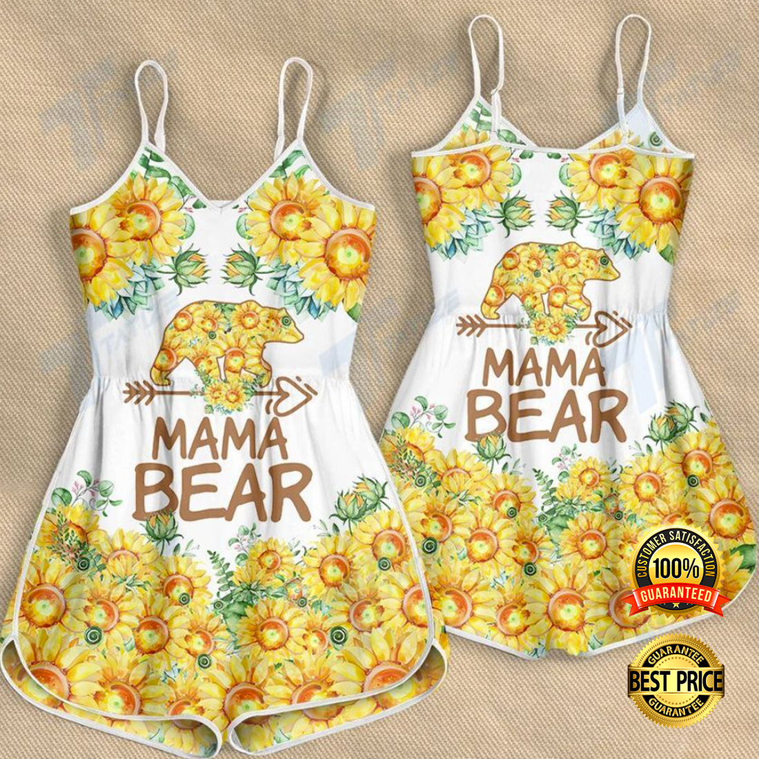 Sunflower mama bear romper 4