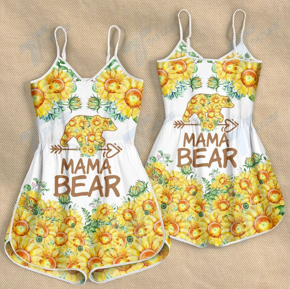 Sunflower mama bear romper