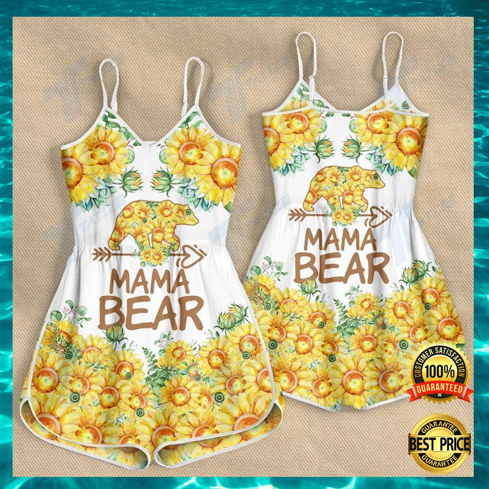 Sunflower mama bear romper1