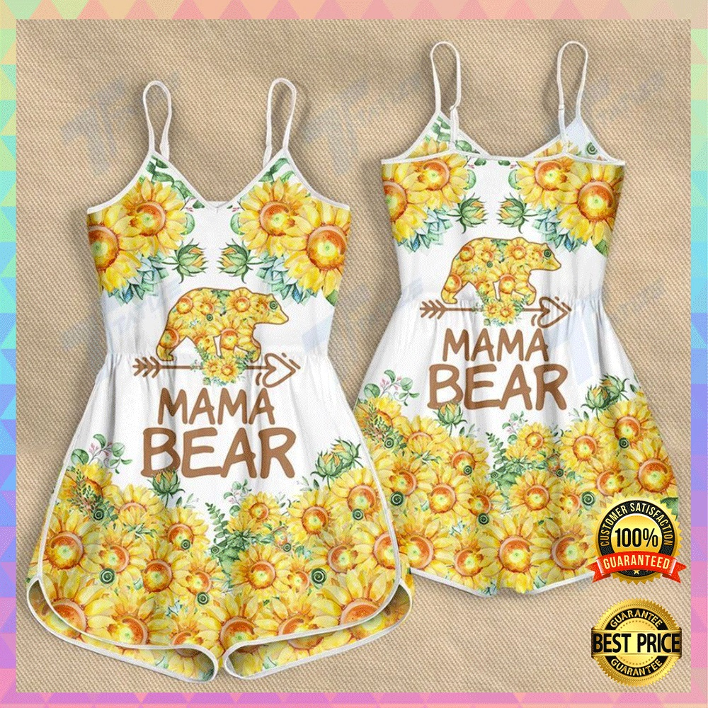 Sunflower mama bear romper2