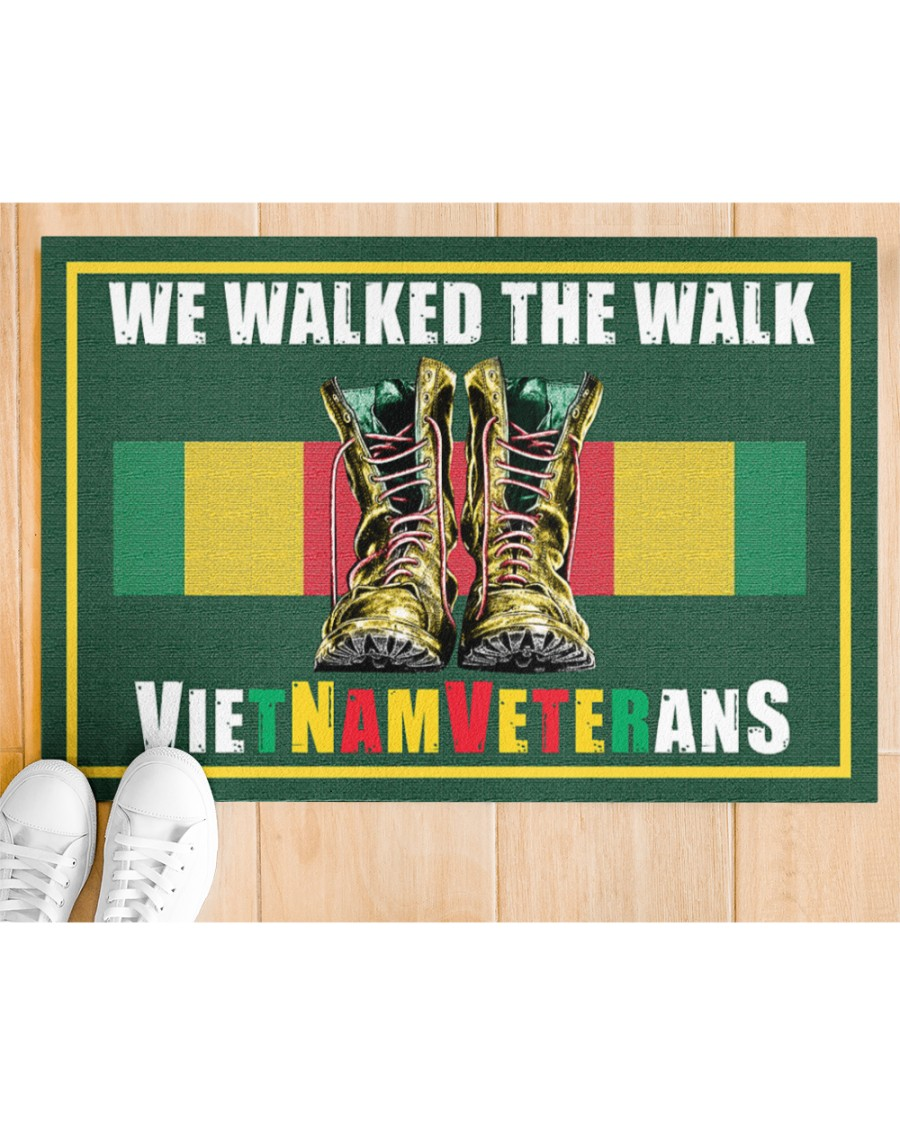 Vietnam veteran We walk the walks doormat Picture 1