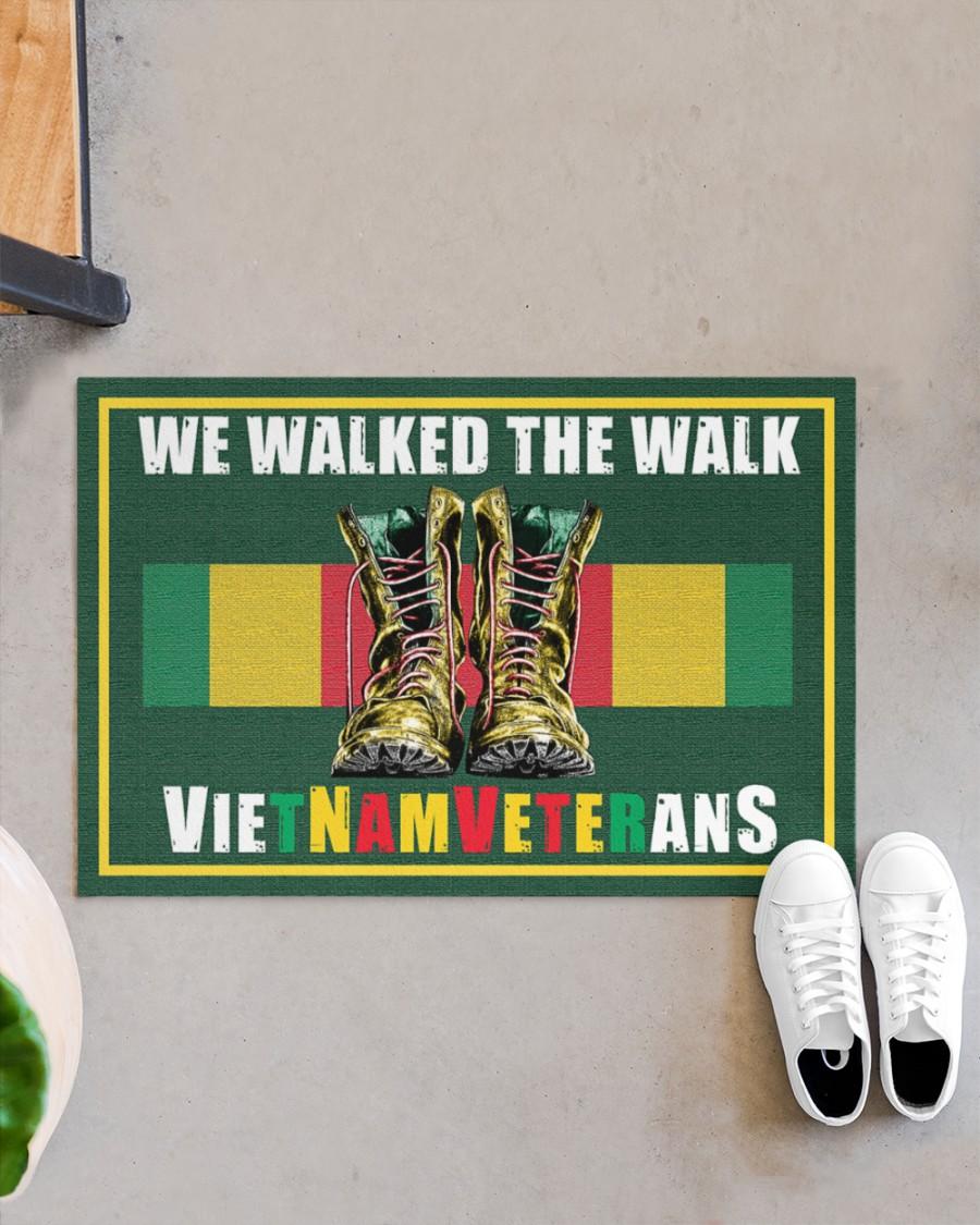 Vietnam veteran We walk the walks doormat Picture 3