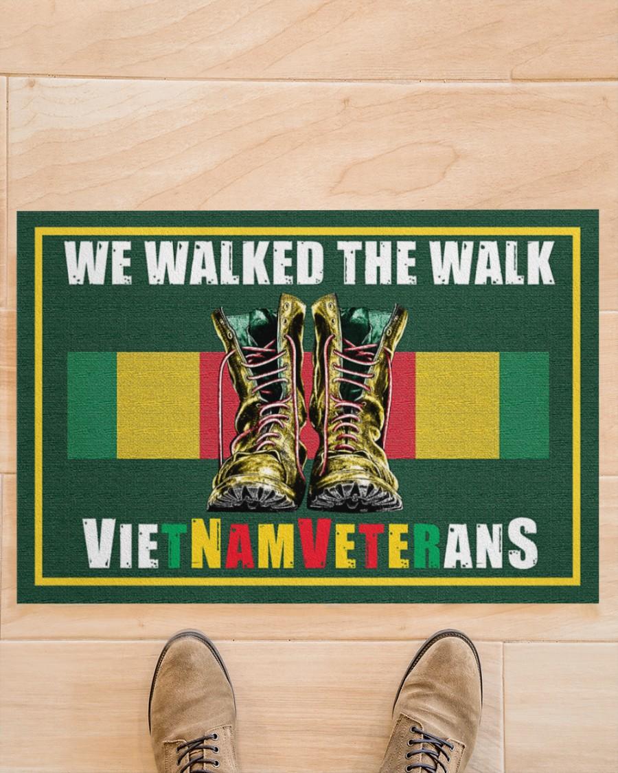 Vietnam veteran We walk the walks doormat