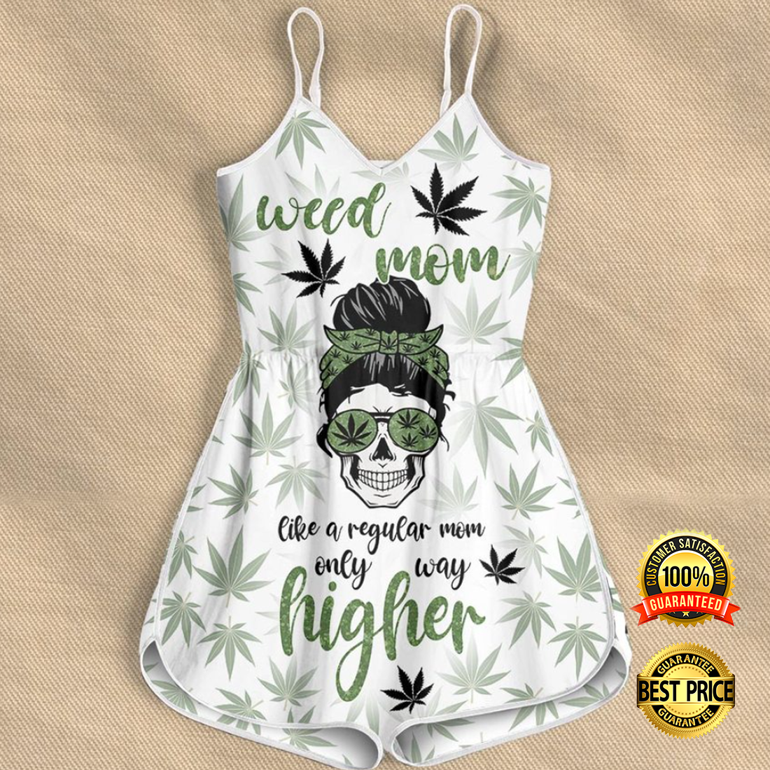 Weed mom like a regular mom only way higher romper 4