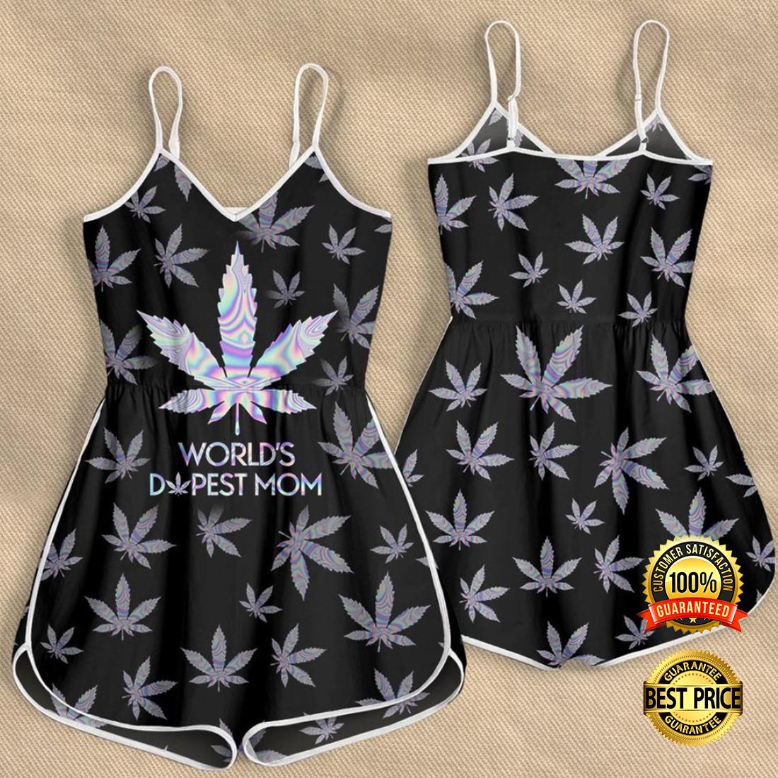 Weed world s dopest mom romper 4