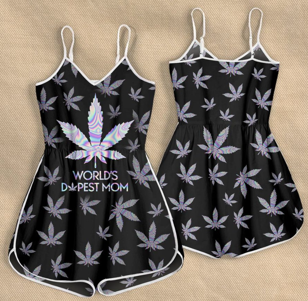 Weed world s dopest mom romper