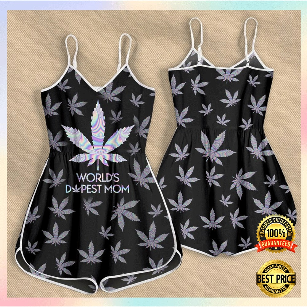 Weed worlds dopest mom romper2