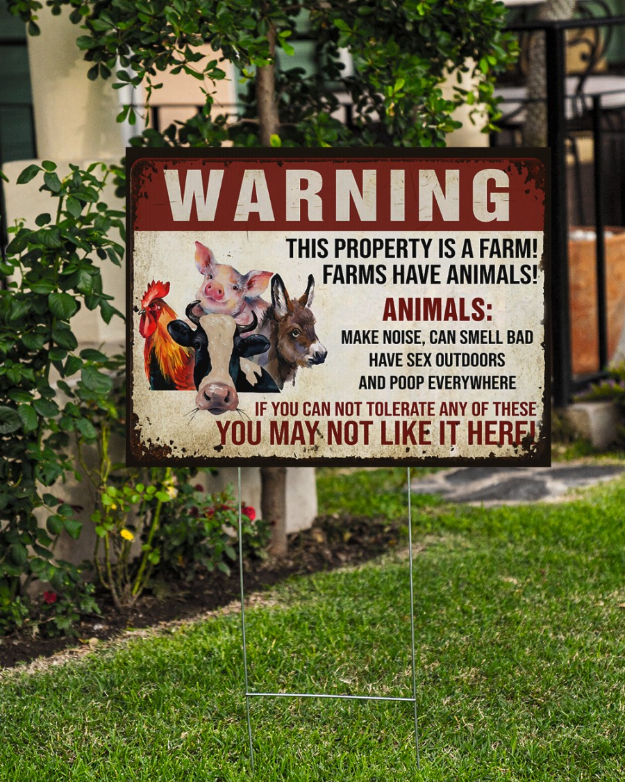 Animals Warninng this property is a farm yard signs Picture 2