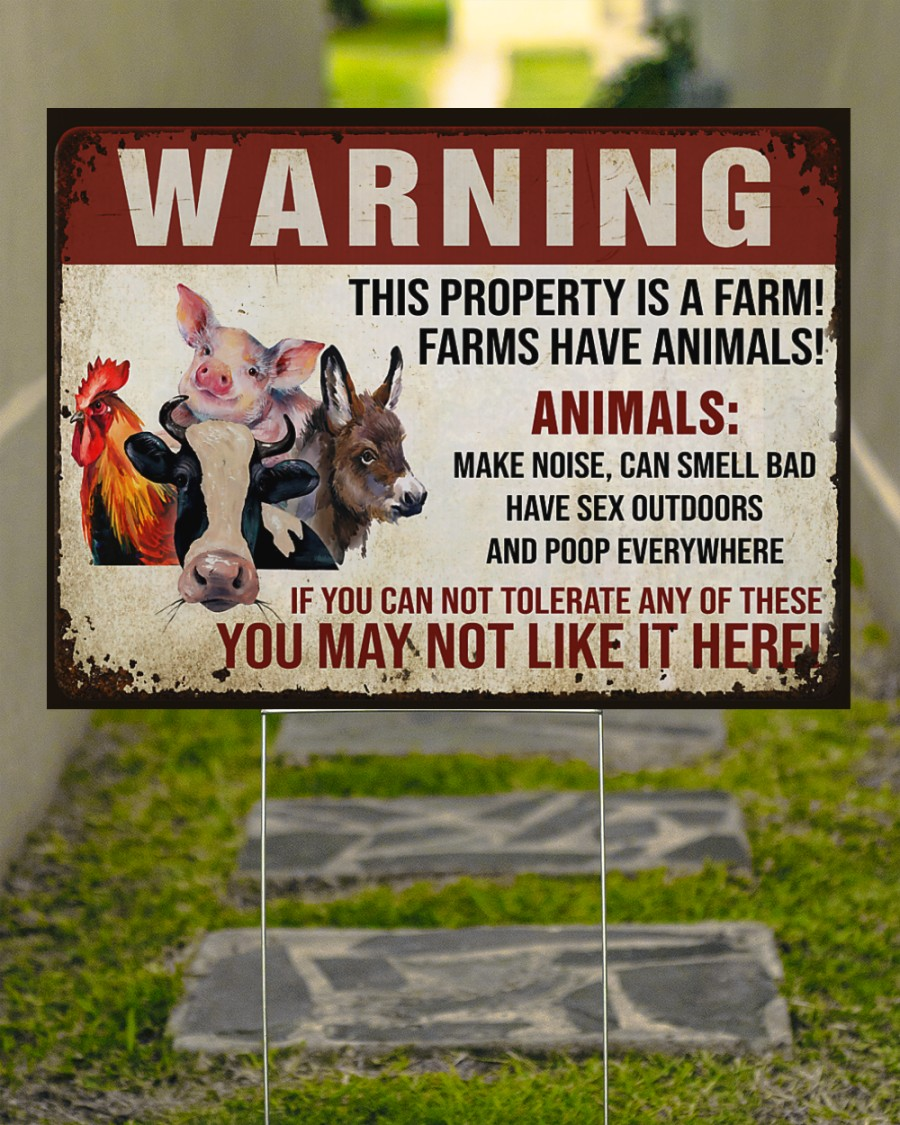 Animals Warninng this property is a farm yard signs Picture 3