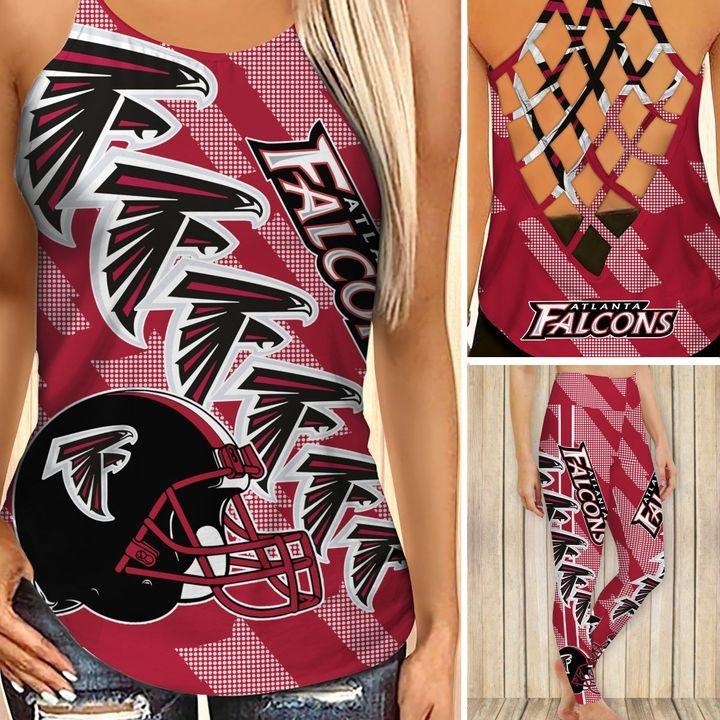 Atlanta falcons criss cross tank top and leggings