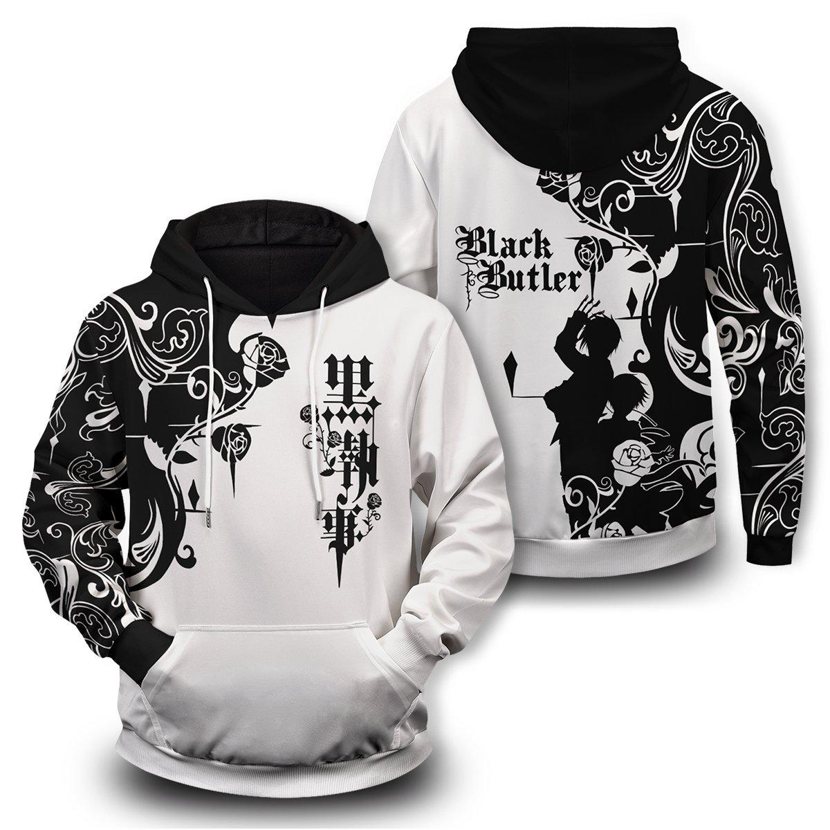 Black butler unisex pullover hoodie