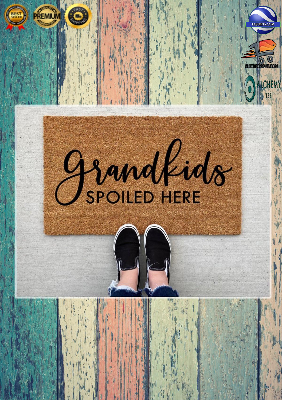 Grandkids spoiled here doormat 2