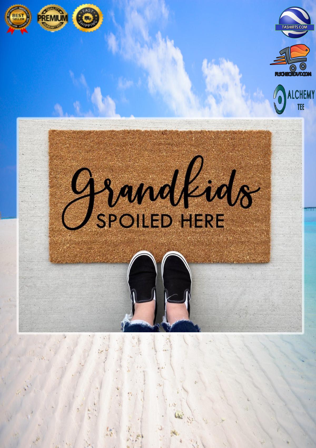 Grandkids spoiled here doormat