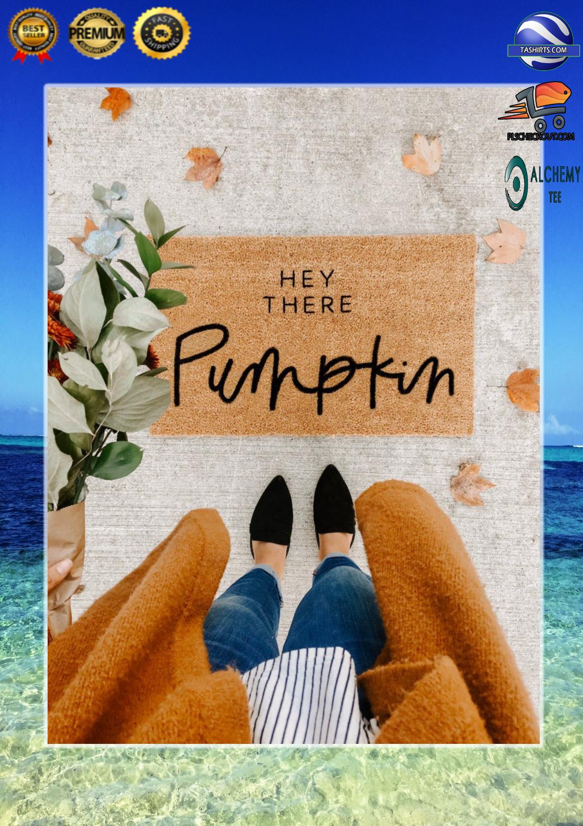 Hey there pumpkin doormat 2